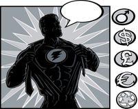 ändra den superhjälten Arkivfoto