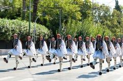 Ändra för ceremoni av vakterna i Aten Fotografering för Bildbyråer
