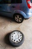 Ändra för gummihjul Royaltyfria Bilder