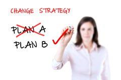 Ändra för strategi för affärsplan. Royaltyfri Foto