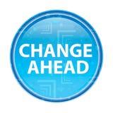 Ändra framåt den blom- blåa runda knappen stock illustrationer