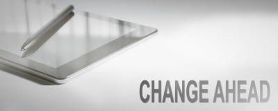ÄNDRA FRAMÅT Digital teknologi för affärsidéen arkivbilder