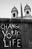 Ändra gatan för kyrkan för livChtistianity varning Arkivbilder