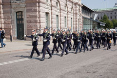 ändra guarden kungliga stockholm sweden royaltyfri foto