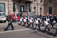 ändra guarden kungliga stockholm sweden royaltyfri fotografi