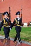ändra guardhedern moscow Royaltyfria Bilder