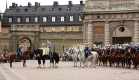 ändra guardkunglig person stockholm Royaltyfri Foto