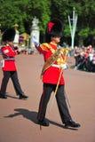 Ändra guardsna på den Buckingham slotten Royaltyfri Fotografi