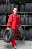 ändra gummihjul Royaltyfri Fotografi