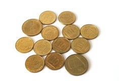 ändra israeliska mynt Royaltyfria Bilder