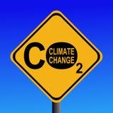 ändra klimatco2tecknet Arkivbild