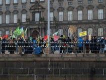 ändra klimatdemonstrationsun Royaltyfria Foton