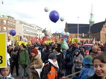 ändra klimatdemonstrationsun Royaltyfri Bild