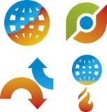ändra klimatet vektor illustrationer