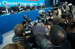 ändra klimatkonferensen arkivbilder