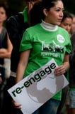 ändra klimatprotesten Arkivbild