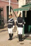 Ändra vakten. Presidentpalatset. Lissabon. Portugal Arkivbild