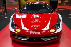 Ändrade Ferrari 458 Italia på skärm Royaltyfria Foton