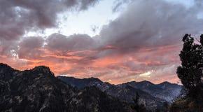Ändrande färg av himlen på skymning Royaltyfri Foto