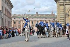 ändrande guard stockholm för ceremoni Royaltyfria Bilder