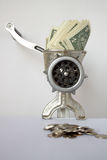 ändrande pengar royaltyfria foton