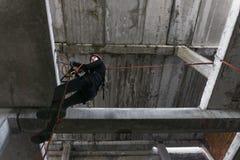 Ändrande rep för klättrare Royaltyfri Foto