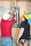 ändrande strömkrets för säkerhetsbrytare Arkivbilder