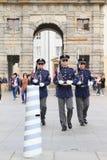 Ändrande vakter Arkivfoto