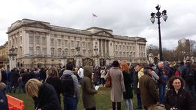 Ändring av vakten Buckingham Palace London UK Royaltyfri Fotografi
