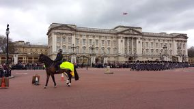 Ändring av vakten Buckingham Palace London UK Royaltyfria Foton
