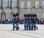 Ändring av vakten i Köpenhamn Arkivbilder