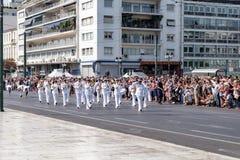 Ändring av vakten på den grekiska parlamentet Royaltyfri Bild