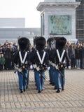 Ändring av vakten på Royal Palace, Köpenhamn Danmark Royaltyfri Foto