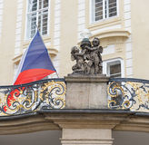 Ändring av vakten Prague - tjeck Arkivbilder