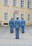 Ändring av vakten Prague - tjeck Royaltyfri Bild