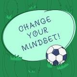 Ändring för handskrifttexthandstil din Mindset Fast mental inställning för begreppsbetydelse eller dispositionsdemonstrering vektor illustrationer