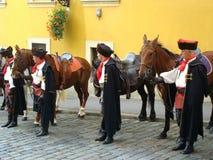 Ändring för Kravat cavalrymanguard Arkivfoto
