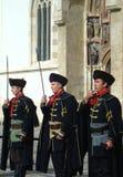 Ändring för Kravat regimentguard Royaltyfri Foto