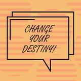 Ändring för ordhandstiltext din öde Affärsidé för vad är mycket rimlig att hända i rektangulär avlägsen snar framtid stock illustrationer