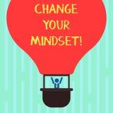Ändring för ordhandstiltext din Mindset Affärsidé för fast mental inställning eller disposition som visar svar royaltyfri illustrationer