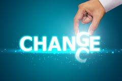 Ändring som riskerar karriärtillväxt arkivbild