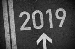 Ändringar för ändring för helgdagsafton för nya år för lyckligt nytt år 2019 Ändringarna för nytt år allt royaltyfri illustrationer
