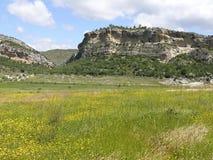 Ängar landskap i Lleida arkivbilder