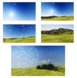 Ängdalhimmel Royaltyfria Bilder