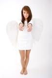 ängel örfilad upp hand royaltyfri bild