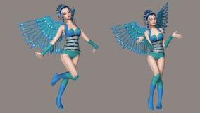 ängel vektor illustrationer