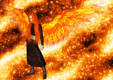 Ängel av flamma Royaltyfri Foto