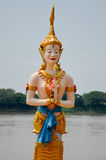 Ängel i den Khong floden Arkivfoton