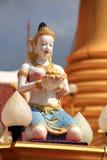 Ängel i den Thailand templet Arkivfoto