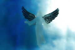 Ängel i himmel Arkivbilder